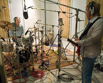 nick mason and bill wyman at abbey road