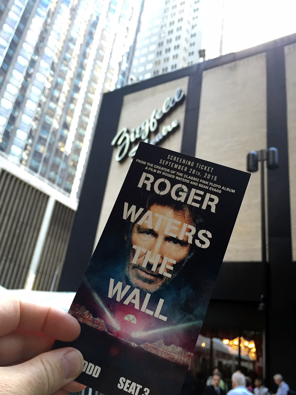 Outside the Ziegfeld Theater