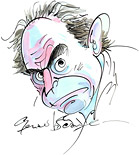 gerald scarfe self-portrait